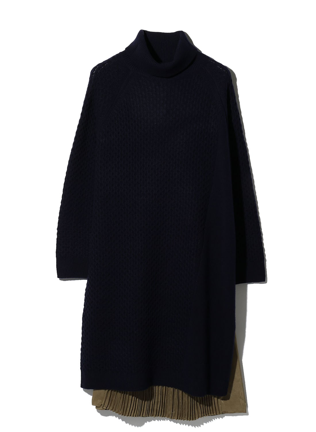 【日本限定】 KNIT COMBI ZIP DRESS
