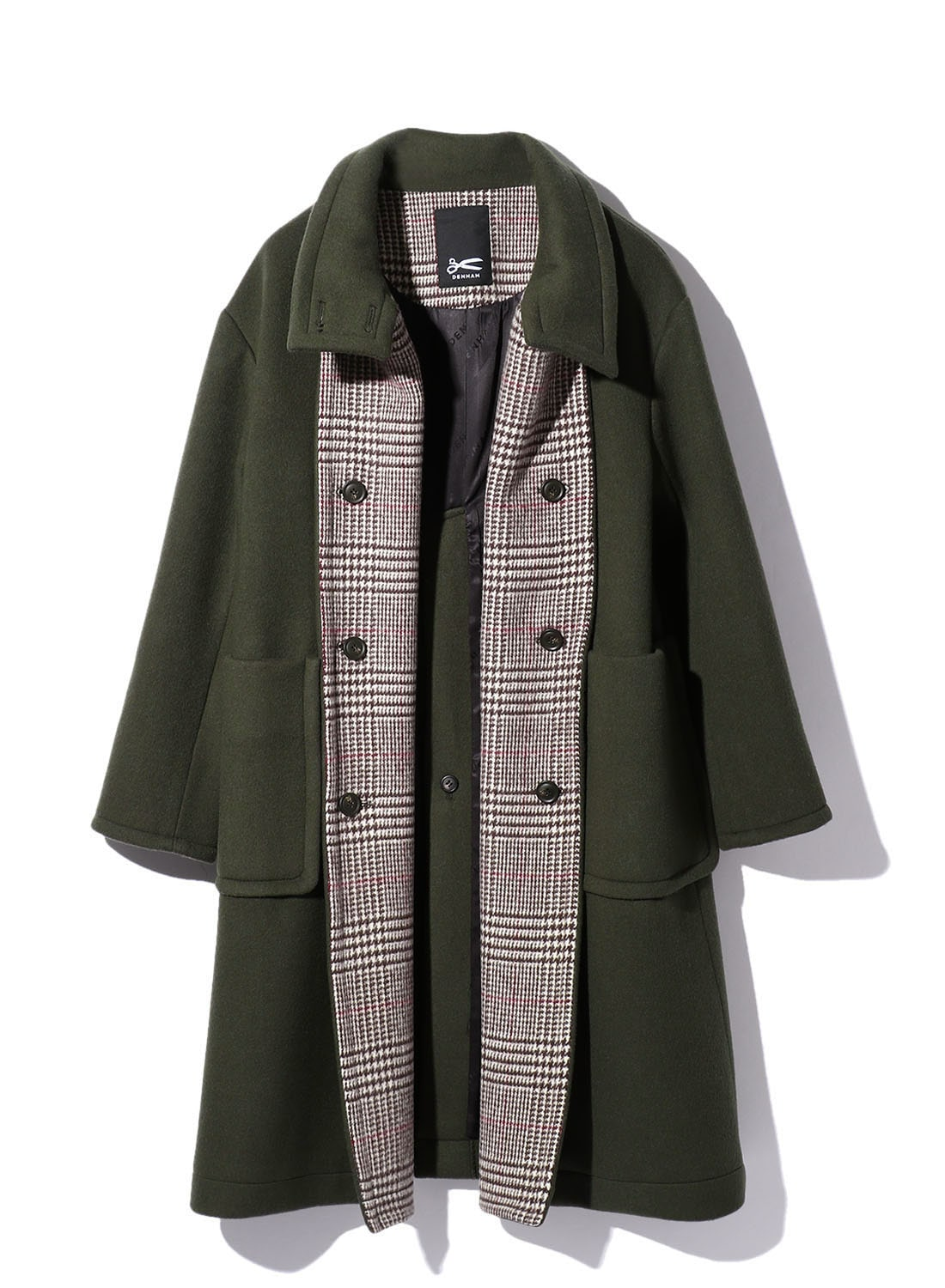 【日本限定】 STAND CHECK WOOL COAT